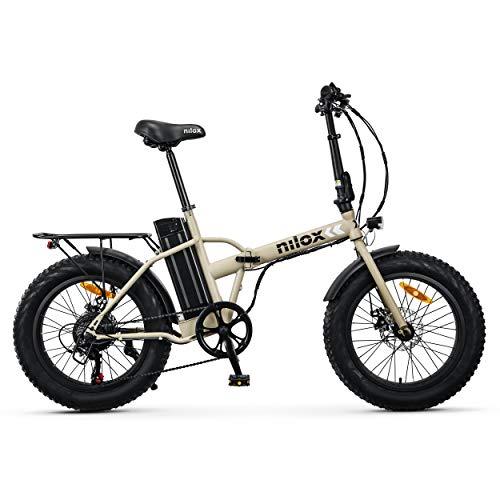 Nilox 30NXEB20V002V2 - Bicicleta eléctrica E Bike 36V 10AH 20X4P - X8, Motor 36 V 250 W, batería Recargable Samsung de Litio 36 V 10.4 Ah, Carga Completa 4 h, chasis Acero, Velocidad máxima 25 km/h