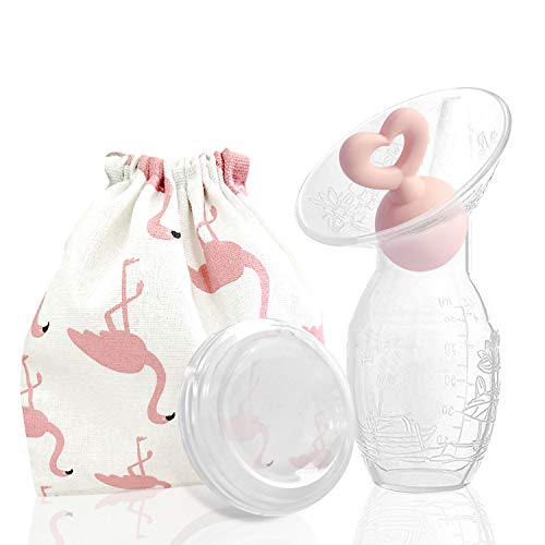 Bumblebee Breast Pump Manual Breast Pump Breastfeeding Collection Cups Pink Pump Stopper lid Pouch...