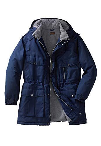 Amazon Essentials Men's Big & Tall Lightweight Water-Resistant Packable Puffer Jacket, Gray, 6X