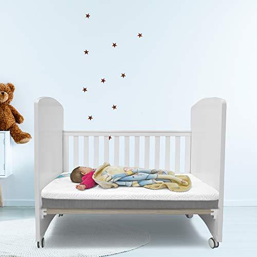 Colchón Fushia Baby - Colchón de Cuna Viscoelástico para Bebé 120x60cm con Funda Lavable y removible Previene la Plagiocefalia y Antiasfixia con Tratamiento Antiácaros