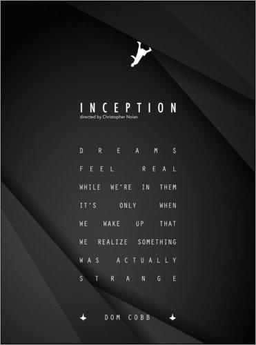 Poster 30 x 40 cm: Inception - Christopher Nolan von Dear Dear - hochwertiger Kunstdruck, neues Kunstposter