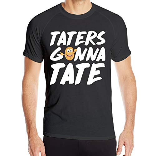 WAUKaaa Taters Gonna Taste - Camiseta de manga corta con cuello redondo para hombre, diseño de patata