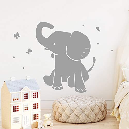 hetingyue Hot Wandaufkleber Elefant abziehbar selbstklebend Moderne Wanddekoration Kunst Aufkleber 54x63cm