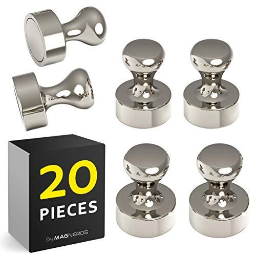20 Stück Kegelmagnete Neodym N52, Magnete Stark für Magnettafel, Kühlschrank, Whiteboards - Pinwand Magnet Pins