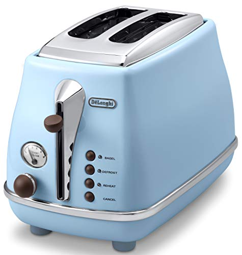 DeLonghi Pop-up toaster 「ICONA Vintage Collection」CTOV2003J-AZ (Azzurro Blue)【Japan Domestic genuine products】
