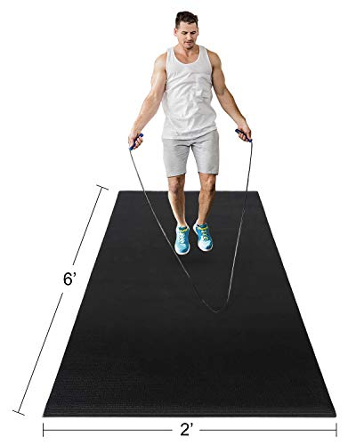 Haining Large Yoga Mat 72 x 24 (6' x 2' ) x 6mm Jump Rope Fitness...