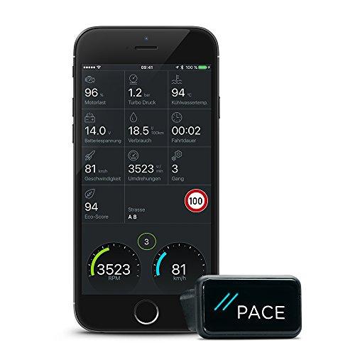 PACE Link One | OBD-2 Diagnosegerät & App machen dein Auto zum Smartcar: Fehlercode Analyse, Automatischer Notruf (eCall), Elektronisches Fahrtenbuch, Find-my-Car Funktion usw.