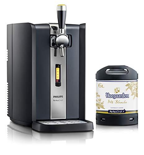 Dispensador de cerveza PerfectDraft de 6 litros. Incluye 1 un barril de 6 litros - Cerveza de trigo. Incluye un depósito de 5 euros. (Hoegaarden Wit)