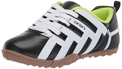 Carter's Boy's Rapaz lace up Turf Shoe, Black, 7 Toddler