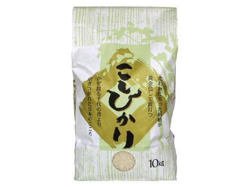 新潟産 無農薬米 コシヒカリ 玄米 10kg/新潟 米 合鴨農法