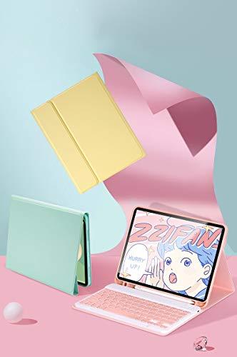 人気 2020モデル 第4世代 iPad Air4 10.9インチキーボードカバー Apple Pencil収納可能 ワイヤレスBluetooth キーボード 分離式 超軽量 手帳型 可愛い お洒落 ペンシル充電対応 脱着式 キーボード スタンド機能 (i