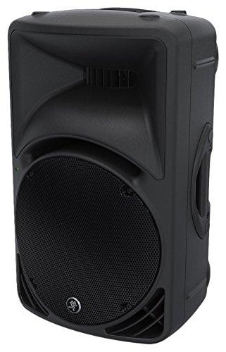 Mackie SRM450–Lautsprecher (schwarz, Deckenmontage möglich, Tischplatte/Bücherregal, Bühne, Eingebaut, verkabelt, XLR/6.3mm/RCA)