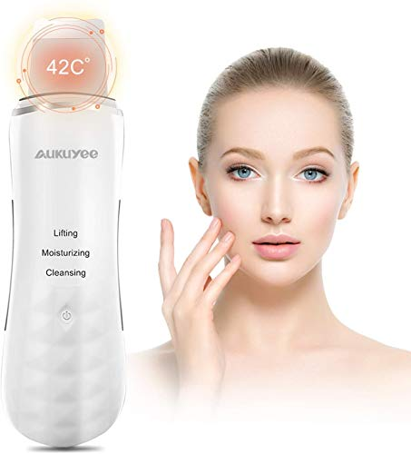 Scrubber ad ultrasuoni per la pelle AUKUYEE Pulizia Viso Ultrasuoni Dispositivo per la pulizia ad ultrasuoni viso pulizia per uso personale per la pulizia della pelle morta rimozione dell'acne