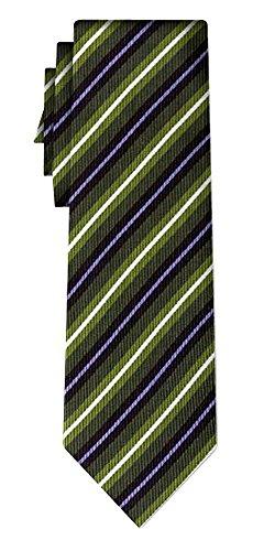 Cravate soie rayée stripe green