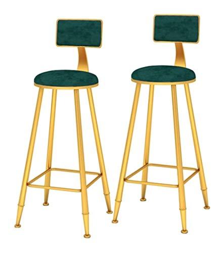 genneric Conjunto de 2 Piezas de Bar Taburete de Bar Restaurante Silla de la Sala de Estar Dormitorio Vanidad Swith del Respaldo y Las piernas del Metal la decoración del hogar