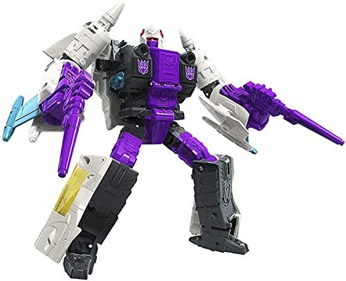 Transformers Kingdom Transformers Juguetes Generaciones Guerra de Cybertron: Earthrise Voyager WFC-E21 Decepticon Snapdragon Triple Changer Figura de acción - 8 y más, 7 pulgadas Figura de acción de O