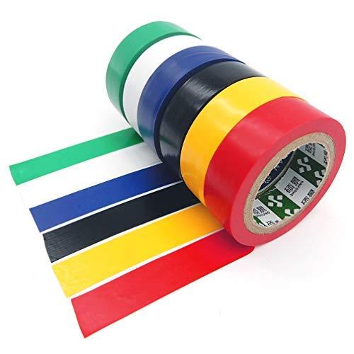 Isolierband 6 Stück farbig elektrisch selbstklebend PVC Klebeband