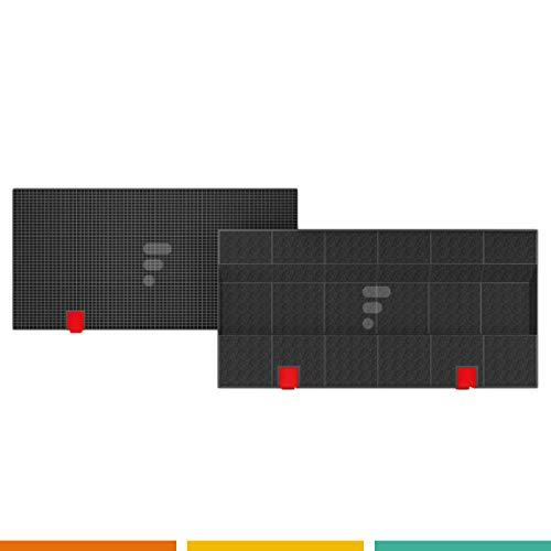 Kohlefilter/Aktivkohlefilter für Dunstabzugshaube - FC08 - rechteckig - passend für AEG/Juno/Electrolux/Bosch/Siemens/Bauknecht/Whirlpool - DKF24 / KLF60/80 Elica 150 Wpro