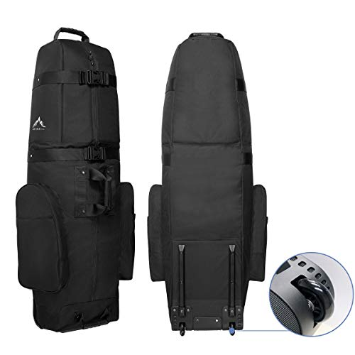 Himal Golf Travel Bag - Heavy Duty 600D Polyester Oxford Wear-Resistant, Excellent Zipper Universal Size with Wheels, Soft-Sided Golf Club Travel Cover to Protect Clubs