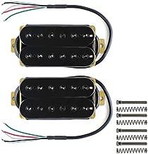 FLEOR Neck+Bridge Pickup Set Double Coil Humbucker Pickups for Electric Guitar Pickup Replacement-Black