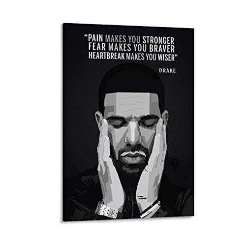 Aubrey Drake WPAP Pop Art Poster Decorative Painting Canvas Wall Art Living Room Posters Bedroom Painting 20x30inch(50x75cm)