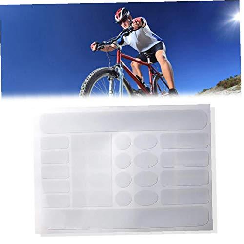 tJexePYK Marco 1sheet Bicicletas de Vaina Pegatinas de Vaina Protector Adhesivo Resistente rayar Bicicletas Cinta Protectora Guard para Bicicleta de Carretera (Transparente)