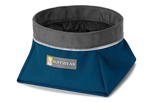 Ruffwear Packbarer Hundenapf, Größe: M, Fassungsvermögen: 1 L, Blau (Blue Moon), Quencher