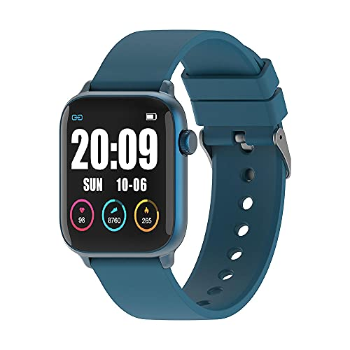 Heart Rate Blood Pressure Monitoring IP68 Smart Watch Long-Lived Multi-Sports Mode Information Reminder-Blue