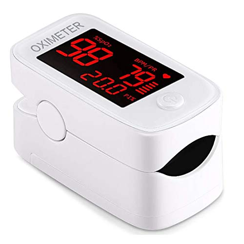 Finger Pulse Oximeter, Blood Oxygen Saturation Monitor with OLED Screen Display