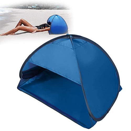 Asolym Pop Up Portable Mini Personal Beach Sun Shelter Portable UV Protection Beach Head Tente de Parasol avec Téléphone Portable Stand Bag Face Shade Canopy