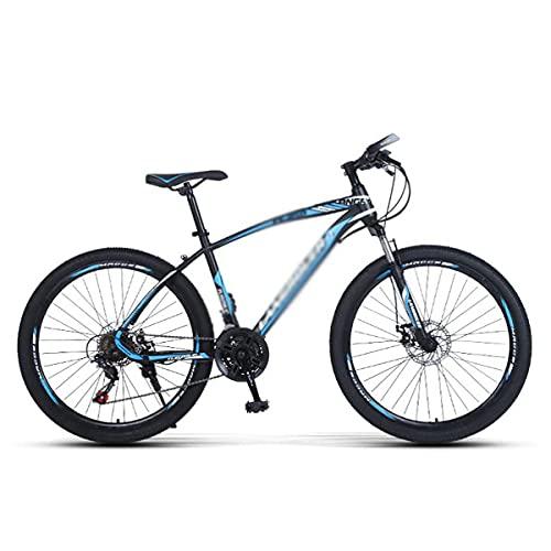 Bicicleta de montaña Ruedas de 26 pulgadas 21/24/27 velocidades Marco de acero con alto contenido de carbono Suspensión delantera MTB para adultos Hombres Mujeres (Tamaño: 21 velocidades, Color: Verde