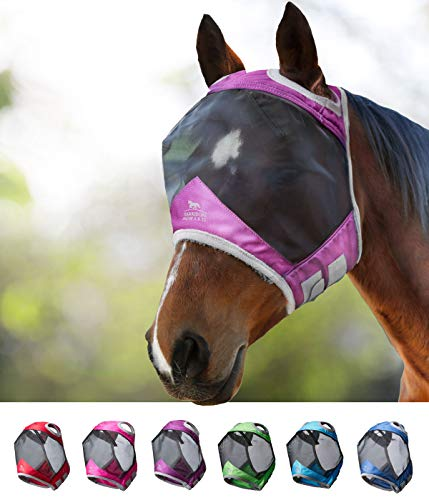 Harrison Howard CareMaster Pro Luminous Fliegenmaske UV-Schutz Standard Lavendel Lila Warmblut (L)