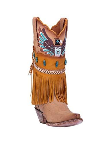 Dan Post Women's T-Bird Western Boot Snip Toe Camel 6.5 M