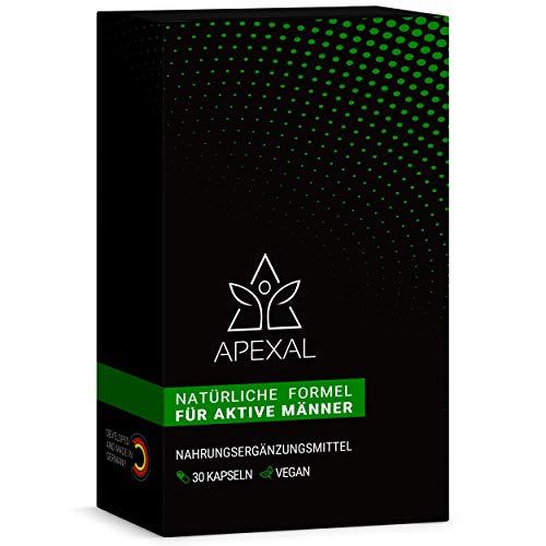 Apexal - für aktive Männer - 30 hochdosierte Kapseln - Optimale Wirkung durch studienbasierte Rezeptur & hohe Bioverfügbarkeit - Maca & L-Arginin - Booster for Men - Maca Root Capsules