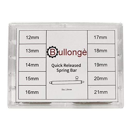 Schnellwechsel-Federstege im Set BULLONGÈ SW-40 für Uhren-Lederarmbänder