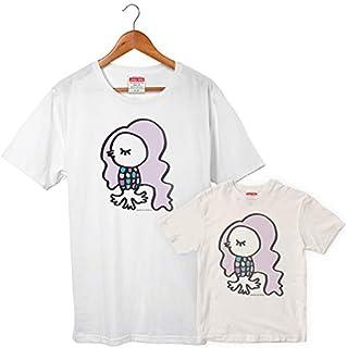 アマビエ 08 Tシャツ サイズはM、Lの2種類 レディースサイズ 妖怪 疫病退散 コロナウィルス対策 アマビエチャレンジ メッセージ GSJT013 自粛 イラスト グッズ