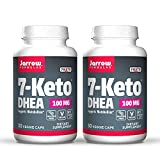 Jarrow Formulas 7-Keto DHEA 100 mg - 30 Veggie Caps, Pack of 2 - Naturally-Occurring Metabolite - Supports Fatty Acid & Carbohydrate Metabolism - Up to 60 Total Servings