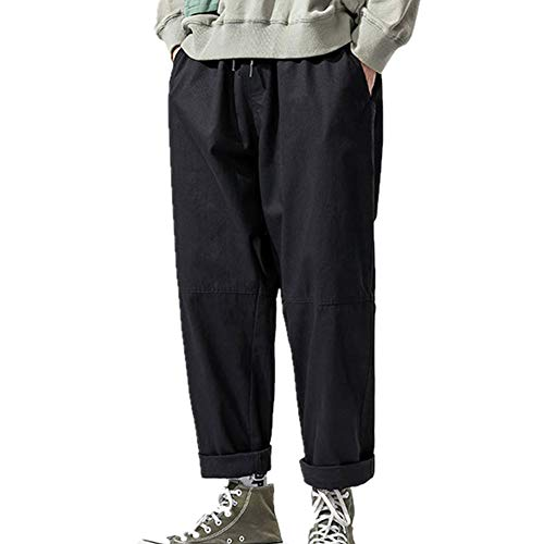 N\P Pantalones sueltos de primavera para hombre, talla grande, pantalones súper largos