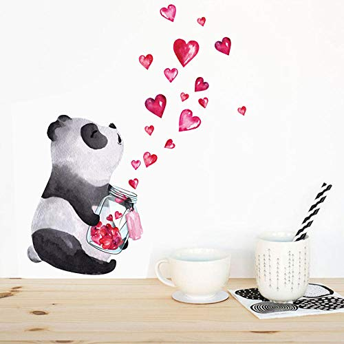 Pegatinas de pared de Panda dibujadas a mano, Mural artístico de estilo chino, sala de estar, dormitorio, armario, decoraciones, decoración del hogar, pegatinas bonitas