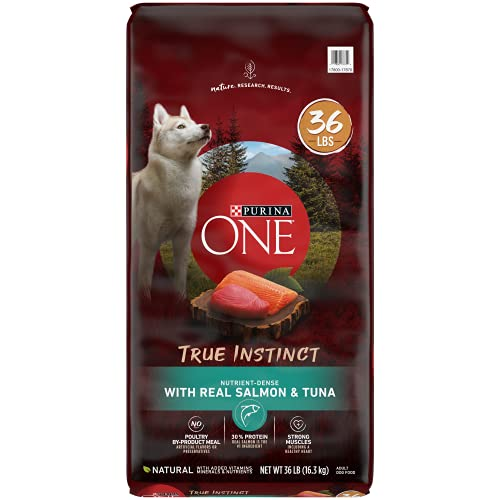 Purina ONE High Protein Natural Dry Dog Food, SmartBlend True Instinct With Real Salmon & Tuna - 36 lb. Bag
