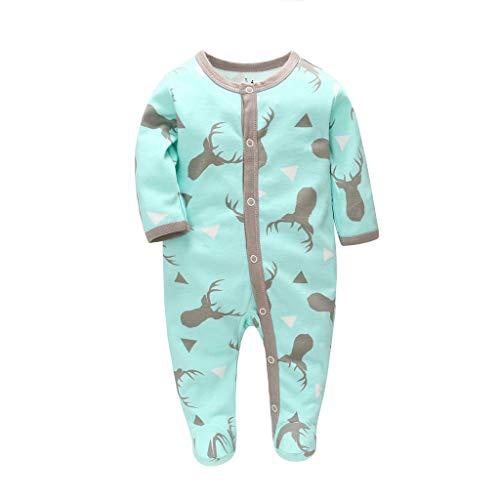 Livoral Kinder Wintermantel Jacke Junge Neugeborenes Baby-Mädchen-Karikatur-Tieroverall-Overall-Satz-Overall(Blau,3-6 Monate)