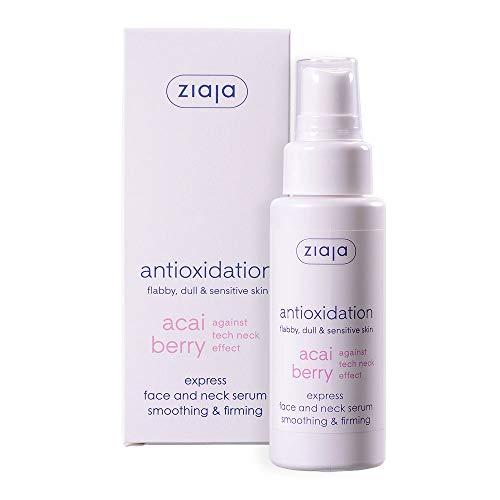 Ziaja - Serum exprés de bayas de acai, suaviza y reafirma la cara y el cuello, 50 ml
