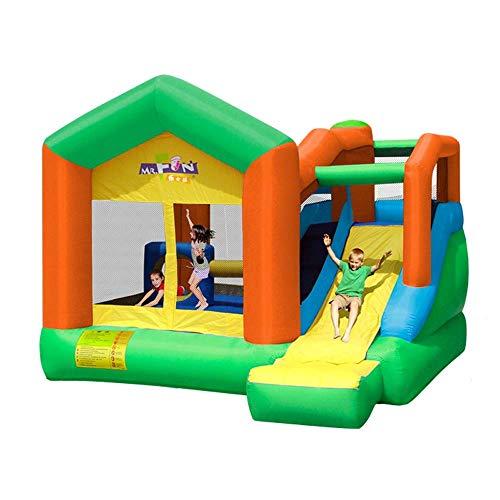 SGSG Tobogán para niños Castillo Inflable Casa Inflable Juguete Trampolín Casa de Rebote Tobogán, Pared de Malla Oxford, para el hogar, Interior y Exterior
