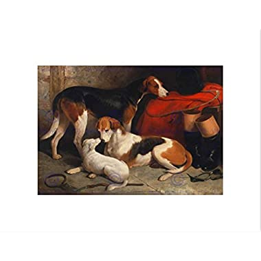 ANIMALS FOXHOUNDS TERRIER HUNT HUNTING DOGS BARRAUD FRAMED PRINT B12X12798