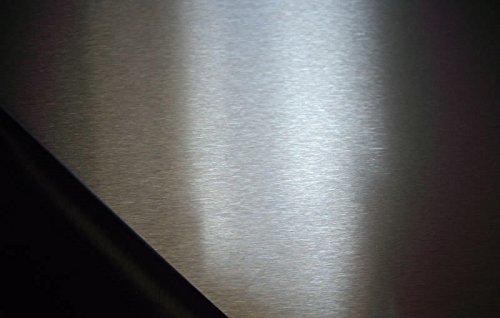 1x Edelstahlblech V2A K240 geschliffen 1250x625x0,8mm stark, einseitig mit Schutzfolie