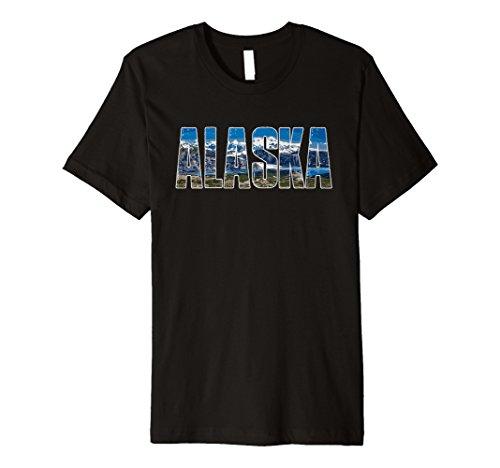 Alaska Travel Shirt, alaskan Landschaft und Gletscher Tee