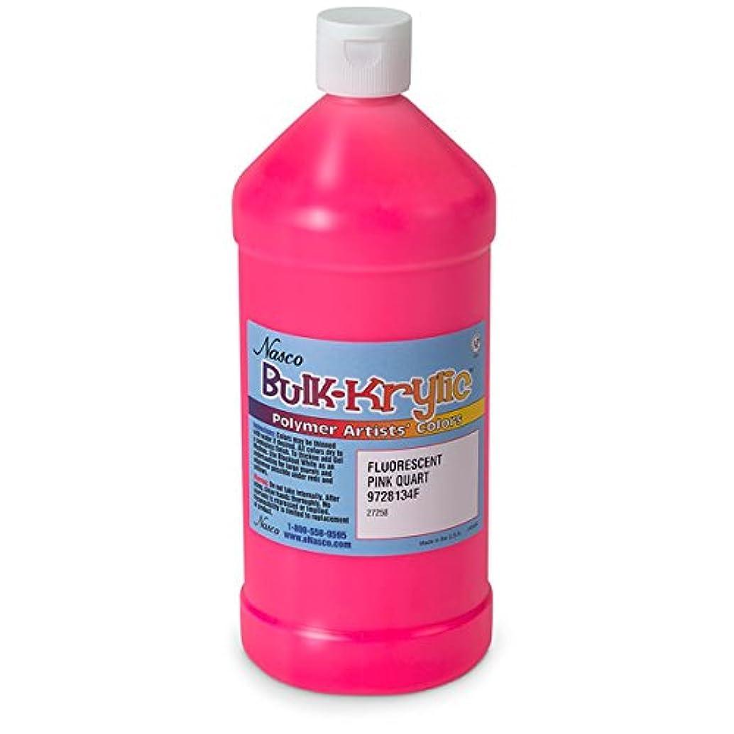Nasco 9728134(F) Bulk-Krylic Acrylic Paint, 1 Quart, Fluorescent Hot Pink