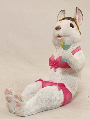 AM-Design Hasenlady pink Gartenfigur Garten Figur Skulptur Hase Tier Tierfigur