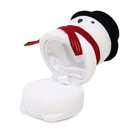 dailymall Navidad Muñeco de Nieve Boda de La Caja de Embalaje del Regalo de Almacenamiento de La Exhibición del Reloj Pendiente del Anillo de Santa - as described, Individual
