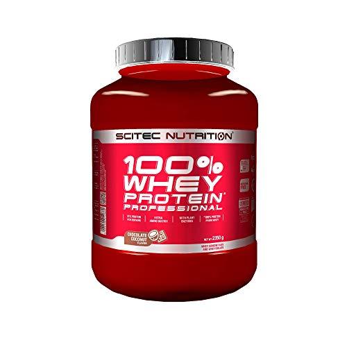Scitec Nutrition 100% Whey Protein Professional con aminoácidos clave y enzimas digestivas adicionales, 2.35 kg, Chocolate-Coco